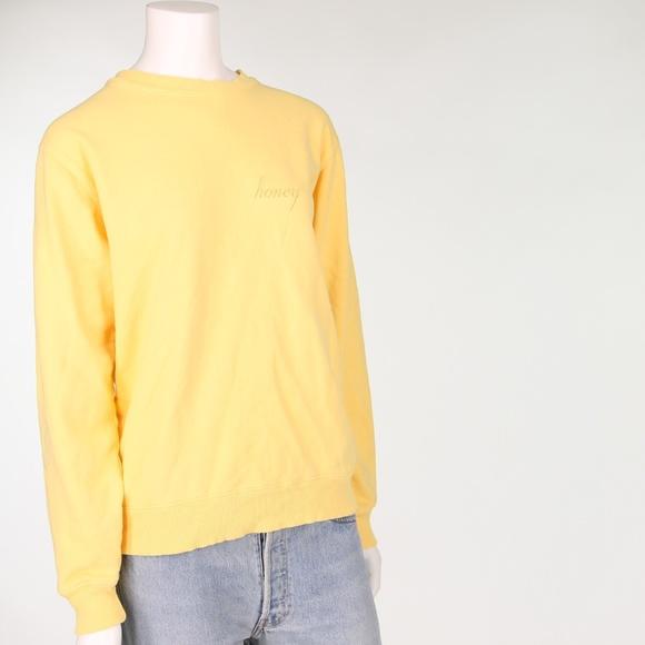 Brandy Melville Sweaters John Galt Honey Yellow Sweatshirt Poshmark